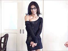 Sara is a sexy ladyboy from Bangkok. She is very slim, all natural hard body. She has a nice uncut cock and a pocket sized ass.