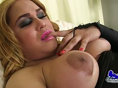 Treasure (or Vivian as she also likes to be called) is a horny thick tgirl with a juicy ass and a rock hard cock! Watch this hot transgirl stroking her hard cock!