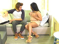 Provocative tgirl hottie Skylar White poses and teases in front of the camera sporting her body tight casual dress. Stud Drake Ford appears in the scene and let Skylar suck her waiting cock. Don`t blink an eye as you will see how Skylar White fulfilled Dr