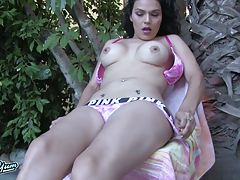 Gaby has a smoking hot body, big boobs, magnificent ass and a rock hard cock! Enjoy Gaby`s return!
